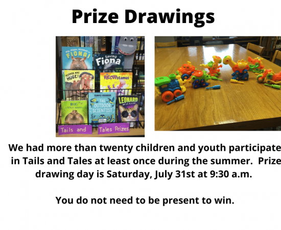 Prize drawings for Tales and Tails