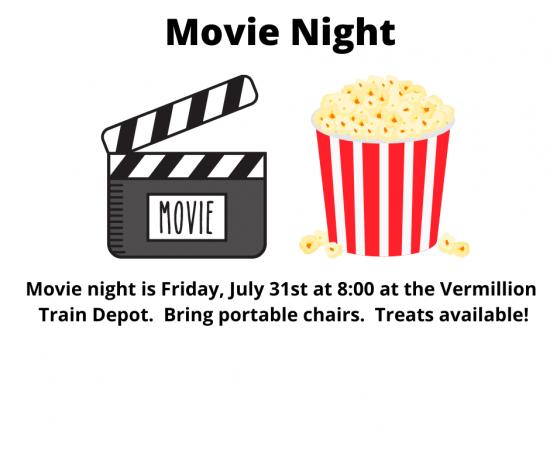 Movie night advertisement.